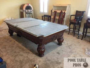 Slate Leveling Seaming Pool Table Pros SW Florida - Leveling pool table slate